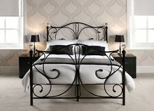 NEW Luxury Metal Bed With Crystal Finish 3FT 4FT6 5FT Day Bed and Trundle Sets