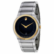 New! Movado Quadro Men's Quartz Watch 0606954 GOLD TONE