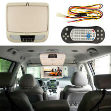 """12"""" Flip Down TFT LCD Monitor With DVD Player Car Roof Mount MP5 Player Beige"""