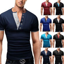 New Luxury Mens Slim Fit Stylish POLO Short Sleeve Shirt Casual T-shirts Tee Top