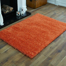 Thick Shaggy Rug Orange 5cm High Quality Small Large Shaggy Rugs Runner Circle