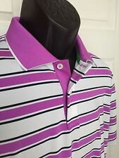 NEW RLX Golf Active Fit Performance Polo by Ralph Lauren MSRP $89.50 Pink Stripe