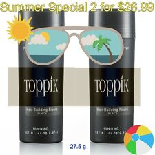 2 for $26.99 TOPPIK Hair Building Fibers Black / Dark Brown / Medium Brown 27g