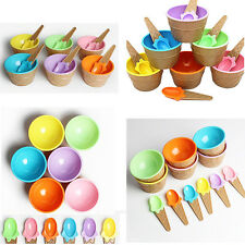1Pcs Kids Bowl With Spoon Dessert Ice Cream Eco-Friendly Couples Container Cup