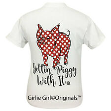 "Girlie Girl Originals ""Gettin' Piggy With It"" White Short Sleeve T-Shirt"