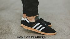Adidas Hamburg Black White Gum Men's Trainers All Sizes S76696