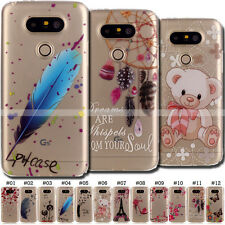 Cute Painted Back TPU Shell Soft Case Gel Skin Silicone Clear Cover For LG G5