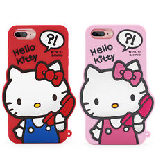New Cute Cartoon 3D Hello Kitty Soft Silicone Case Cover Back Skin For iPhone