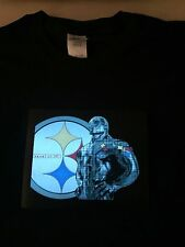 Steelers Pittsburgh NFL Sound-Activated LIGHTS UP LED T-Shirt ALL SIZES Wireless