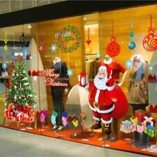 Merry Christmas Xmas Tree Santa Claus Removable Window Showcase Wall Stickers BP