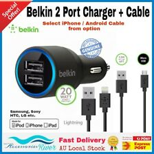 Belkin Duak Usb Car Charger 4.2A For IPhone 6 7 Plus Samsung S4 S5 S6 S7 HTC LG