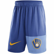 Limited Nike MLB 2017 Milwaukee Brewers Cooperstown Collection Dry Fly Short