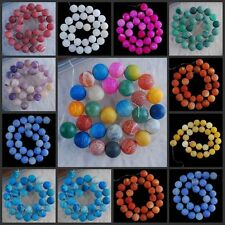 """V1218-1227 14mm Wholesale Fire Agate Ball Loose Beads 14.5"""""""