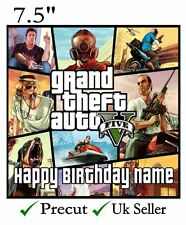 Grand Theft Auto 5 GTA  Personalised Edible Icing Cake Topper Square/Round/Rect