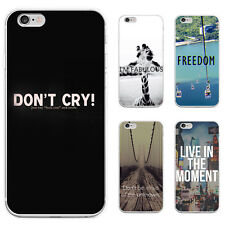 UNIQUE MOTTO PRINT PHONE CASE COVER FOR SAMSUNG GALAXY S6 IPHONE 6S 7 LOVELY