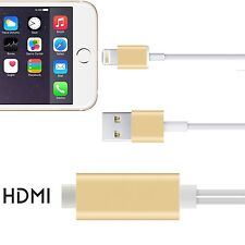 Lightning 8 Pin HDTV TV Digital AV Adapter HDMI Cable for Apple iPhone 6/7 iPad