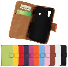 Genuine Leather Wallet Stand Case Cover Protector For Samsung Galaxy ACE S5830