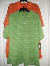 Golf Striped Polo Shirt Wicks Away Moisture NEW By Michael Austin Size L