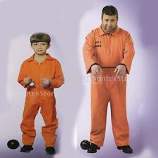 MagiDeal Prisoner Overall Jumpsuit Convict Stag Party Fancy Dress Costume Favors