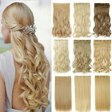 Thick One Piece 3/4 Full Head Ombre Clip in Hair Extensions as Human Any Color