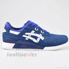 Shoes Asics Gel Lyte III H7K4Y 4501 Man Running Sneakers Blue White Fashion Synt