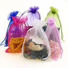 50pcs Organza gift Bags Wedding Candy Favour Jewelry Pouch 10*15cm