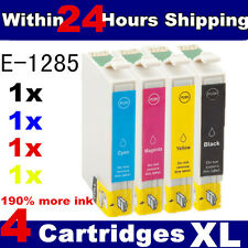 4 Compatible Ink Cartridges Replace for  Stylus T1281-T1284 T1285 Printer