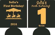 1st cheap Birthday Koozies kids Carnival custom can coolies fast shipping