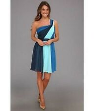BNWT Max and Cleo Natalia Dress blue cocktail one shoulder US 6 & 10 AU 10 & 14