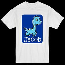 DINOSAUR DIPLODOCUS PERSONALISED T SHIRT KIDS BOYS ANY NAME CHILDRENS ALL SIZES