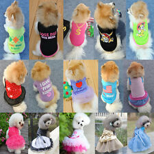 Summer Gift Summer Various Pet Puppy Small Dog Cat Clothes Vest T Shirt Apparel