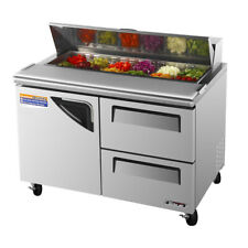 Turbo Air TST-48SD-D2, 48-inch Stainless Steel Refrigerated Salad / Sandwich Pre