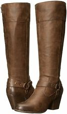 A2 by Aerosoles Womens Creativity Riding Boots Brown Combo size 7 8.5 10 NEW