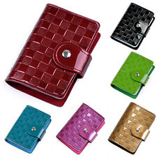 Womens PU Leather ID Credit Card Case Holder Pocket Bag Wallet Organizor Cheaply