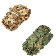 2X3/3X4M Military Camouflage Net Woodlands Leaves Camo Cover for Camping Hunting