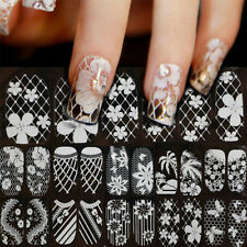 1Sheet 3D Lace Nail Art Manicure Sticker Decal Decoration SELF ADHESIVE TRANSFER