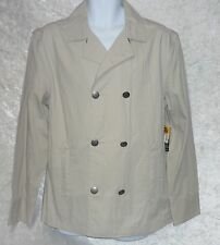 Threads Heirs Mens Peacoat Jacket Lightweight Lined Cotton Sand size M NEW