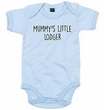 LODGER BODY SUIT PERSONALISED MUMMY'S LITTLE BABY GROW NEWBORN GIFT
