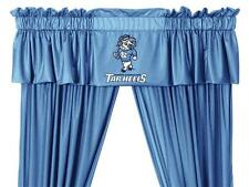 North Carolina Tarheels UNC Window Treatments Valance and Drapes