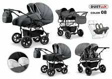 Pram Stroller Pushchair 3in1 ORION + FREE Car seat Frame Black + 42 colours