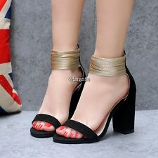 Multi Layers Ankle-Strap Peep Toe High Heels Sandals UTAR01