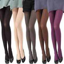Women Ladies Opaque Pantyhose Velvet Coloured Tights Stockings Multi Colors NEW