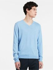 calvin klein mens cotton silk v-neck sweater