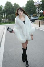 New Fashion Faux Fur Long Bridal Wedding Shawl Stole Wrap Shrug Scarf Jacket