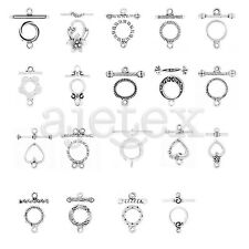 20-150pcs Tibetan Silver Ring Cute DIY Clasps Connector Finding