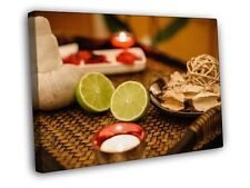 Spa Candles Relax Lemon Print CANVAS UK