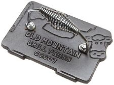 OLD MOUNTAIN 10151-OM, 7x4.5-Inch Cast Iron Pre-Seasoned Cow Shaped Bacon-Grill