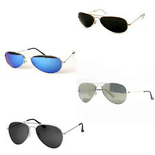 Aviator Sunglasses Summer Fancy Dress Mirror Silver Tint Police Army Gangster