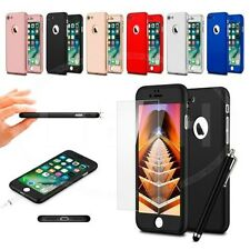 "For Apple iPhone 6s (4.7"") - Ultra Slim 360 Hard Case Front & Back Glass & Pen"