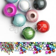 10/20/40/80/120pcs Acrylic Round Miracle Beads Spacer 4/6/8/10/12mm Multi-Color